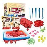 Space Sand 1.8 kg con 50 Piezas de Formas, números, Letras, Piezas de Castillos, Herramienta de Modelado, Arena mágica cinética, Probada por el TÜV, Modelo 2020 (1.8kg Rojo)