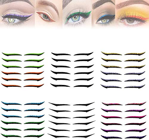 Reusable Eyeliner Stickers Makeup Eyeshadow Face Cat Eye Smokey Cosmetic Tape, Waterproof, Quick Application, No Smudge Design