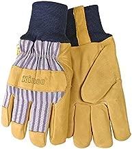 KINCO International 1927KW-XL Men's Lined Grain Pigskin Gloves, Heat Keep Lining, Knit Wrist, X-Large, Golden