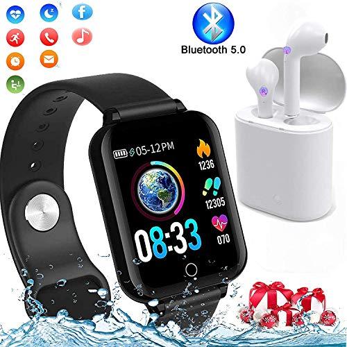 Smartwatch, 1.3 Grande Fitness Tracker Orologio Intelligente Pressione Sanguigna Cardiofrequenzimetro Touch Impermeabile IP67 Pedometro Calorie Cronom