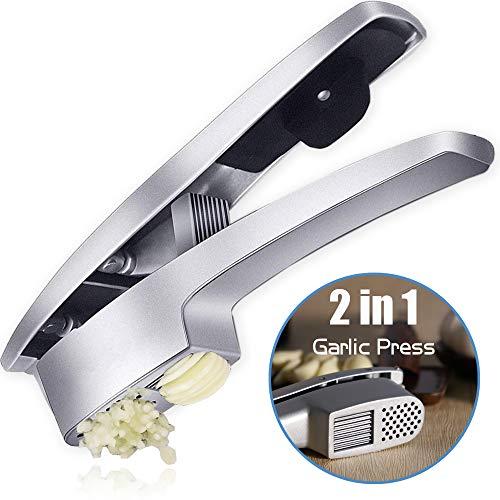Tollcuudda 2 in 1 Garlic Press Crushing Machine And Garlic Slice Function Crush