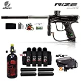 Maddog Dye Rize CZR Advanced HPA Paintball Gun Package - Black/Grey