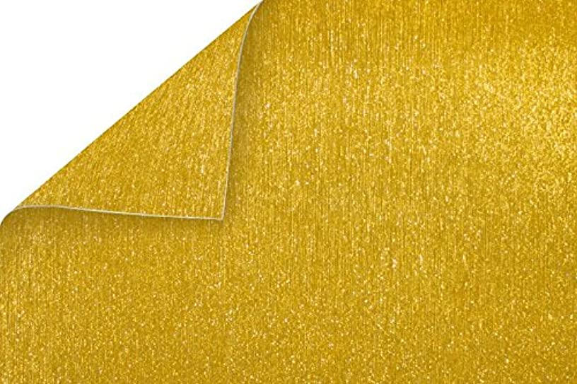 Best Creation BDS03 15 Piece Double-Sided Brushed Metal Cardstock Paper Gold