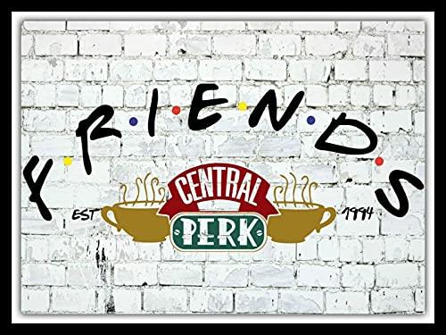 Friends Central Perk New York Coffee Shop TV Cafe Metallschild Blechschild Blechschild 20,3 x 30,5 cm