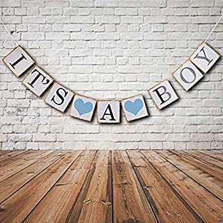 IT is A BOY Banner Bunting Christening Baby Shower Garland Decoration Birthday Party Favors