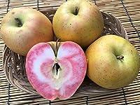 長野県産 生産農家直送 訳ありりんご 「なかののきらめき」 ご家庭向き 6~12玉 約2.7~3kg入り/箱 話題の希少な赤果肉品種!生食もOKですし、ジャム・ジュース・りんごバターなど加工用に最高です!!