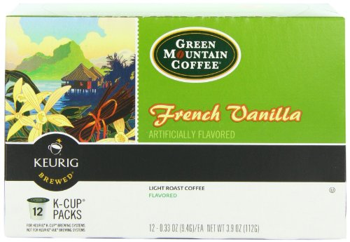 Green Mountain Coffee French Vanilla, Kcup Portion Pack for Keurig Kcup Brewers, 12Count (Pack of 3)