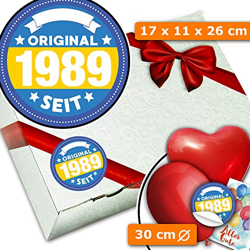 Original seit 1989 - Geschenkbox aus Karton - Geburtstags Geschenke