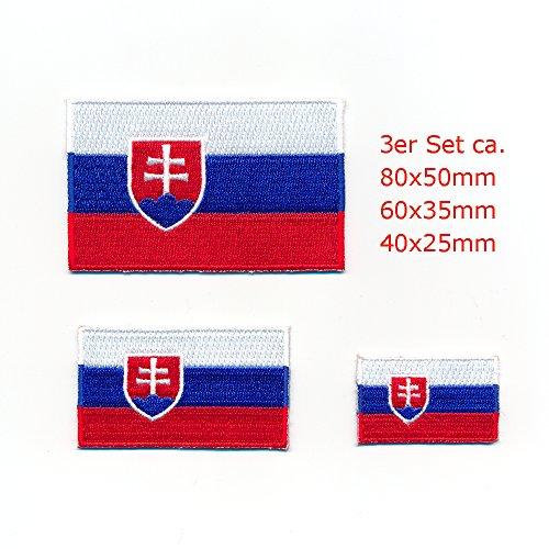 3 Slowakei Flaggen Bratislava Europa Sport Aufnäher Aufbügler Patch Set 1015