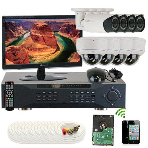 Best Prices! GW Security Inc. 8CHE7 1000TVL 8-Channel H.264 960H/FD1 DVR (White/Black)