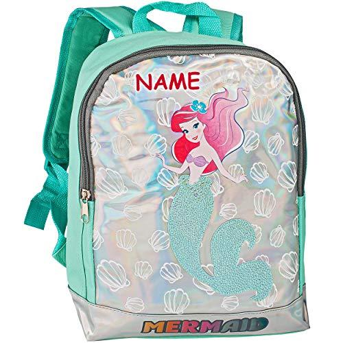 alles-meine.de GmbH Kinder Rucksack - Disney - Princess Arielle die Meerjungfrau - inkl. Name - Tasche - beschichtet & wasserfest - Kinderrucksack / groß Kind - Mädchen - z.B. fü..