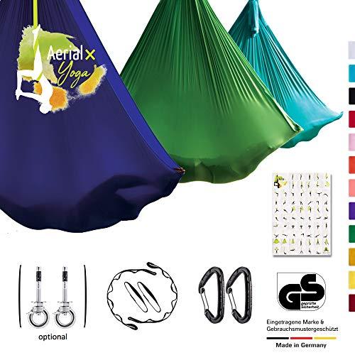 AerialX Aerial Yogatuch - Yoga Basis Set Dunkelrot | TÜV geprüfte Yoga Hängematte für Yoga, Pilates und Gymnastik | Vertikaltuch Made in Germany