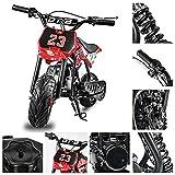Fit Right 2020 DB002 51CC 2-Stroke Kids Dirt Off Road Mini Dirt Bike, Kid Gas Powered Dirt Bike Off Road Motorcycle (RED)