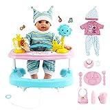 deAO La Mia Prima Bambola Bebè Set Interattivo Include Bambola di 14