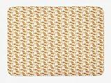 KLR6SYUI-T Alfombra de baño Goldfish con Antideslizante (40 x 60 cm), patrón de Dibujos Animados de exóticos Peces de Agua Dulce de Acuario Caliente