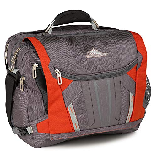 High Sierra XBT - Business Laptop Messenger Bag, One Size, Charcoal/Lava/Silver/Black