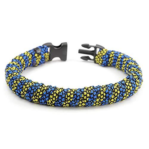 Paracorde 550 Bracelet pour Homme et Femme Rayures Coreless Taille L