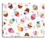 Pingpi Gaming Mouse Pad Custom Design Little Delicious Cupcakes