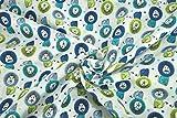 mollipolli-Stoffe Baumwollstoff Löwen Punkte Multi blau