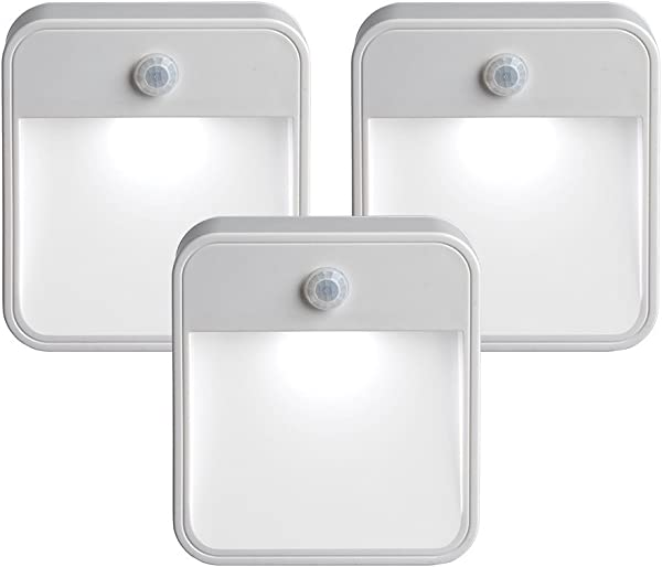 Mr Beams MB 723 MB723 Battery Powered Motion Sensing LED Stick Anywhere Nightlight 3 Pack White 3