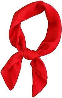 Les Femmes Soie Feel Satin Foulard carré Châle Petite Plaine Bandana Foulard tête Cou Bandeau de Couleur Solide Cravate Cheveux