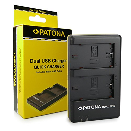 PATONA Cargador Doble para NP-FZ100 Bateria Compatible con Sony Alpha 9, Alpha...