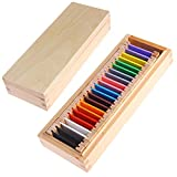 Kofun Montessori Sensorial Material Learning Color Tablet Box Madera Preescolar...