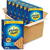 One package of six 25.6 oz, family size boxes of Honey Maid Honey Graham Crackers Made with real honey for delicious flavor Square shaped graham snacks have a crunch in each bite Enjoy as an afternoon snack or stack with marshmallows and chocolate fo...