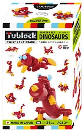 ブロック おもちゃ 組み立て 人気 ランキング 知育玩具 3歳 4歳 5歳 保育園 幼稚園 男の子 女の子 子供 誕生日 プレゼント ギフト Tublock チューブロック (スターターセット ダイナソーズ) 子供 室内 おうち遊び おうち時間 Edute エデュテ