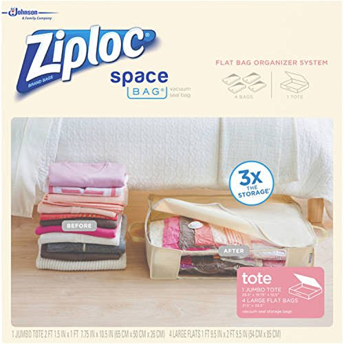 Ziploc 70311 Organizer & Tote Space Bag - 5 Pieces