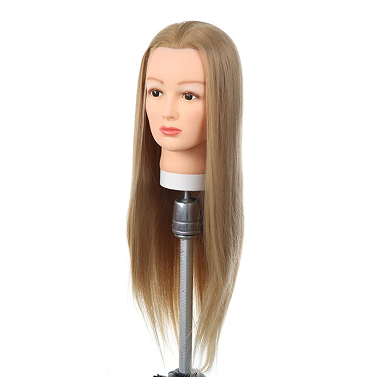 噂開発足枷高温シルクヘアエクササイズヘッド理髪店トリムヘアトレーニングヘッドブライダルメイクスタイリングヘアモデルダミーヘッド