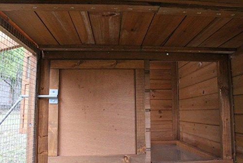 """Hühnerstall Hühnerhaus Chickenhouse Nr. 07 """"Gockelstolz"""" mit Eierbox und Freilauf - 9"""