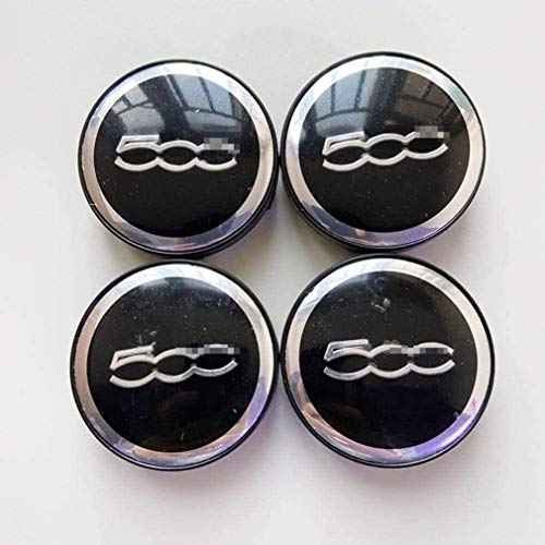 Cubiertas De Tapas De Centro De Cubo De Rueda De Coche De 60 Mm Para Fiat 500, Cubiertas De Emblema De Insignia De Repuesto, Embellecedor De Rueda Decorativa Para Coche 4 Uds