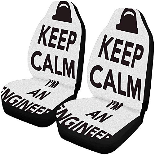 Keep Calm Ik ben een ingenieur autostoelbekleding voorstoelen auto voorstoelkussen fPets