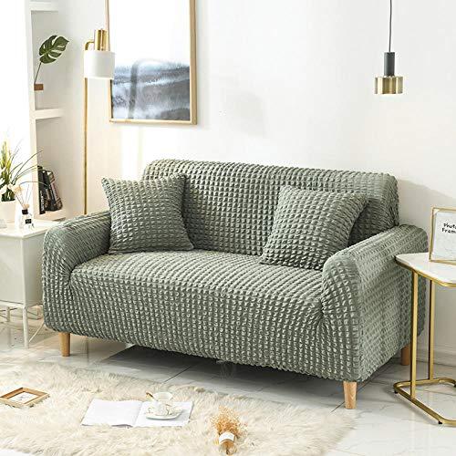 Funda Sofa Resistentes Protector,Fundas de sofá de Color sólido Funda Protectora Antideslizante para Muebles, Sofás Fundas de sofá para Muebles Estar-Verde 1 2 plazas 145-185cm (1pcs)