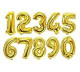 Shiseikokusai 数字 0 9 40cm ゴールドアルミ風船 誕生日パーティーバルーン 写真撮影 10個セットゴールド shuzi-jinse2-0-9