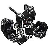 Passeggino Trio 3in1 2in1 Isofix Ovetto Compatto X-Car Rock by SaintBaby nero & cranio 3in1 con Ovetto