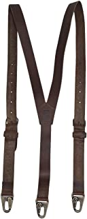 Rustic Leather Y Suspenders Wedding & Party Essentials Medium (5 ft 3 in. to 5 ft 9 in.) Handmade Includes 101 Year Warranty :: Bourbon Brown