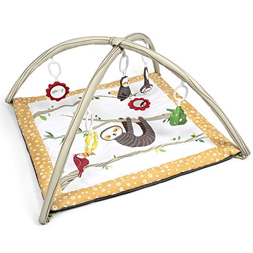 JumpOff Jo – Infant Activity Gym and Baby Play Mat – Ages 018 mo – Jungle Sloth