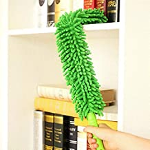JRM's Household Cleaning Microfiber Chenille Telescopic Expendable Rod Fan Duster Brush Car Cleaning (Multi Colour)