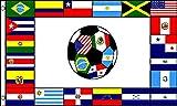 AZ FLAG Flagge SÜDAMERIKANISCHER FUßBALL 150x90cm - FUßBALL IN SÜDAMERIKA Fahne 90 x 150 cm - flaggen Top Qualität
