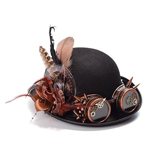 SMC Hat -  Cappello da cowboy - Donna Nero 56-58 cm