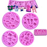 Cute Baby Silicone Fondant Cake Mold Kitchen Baking Mold Cake Decorating Moulds Modeling...
