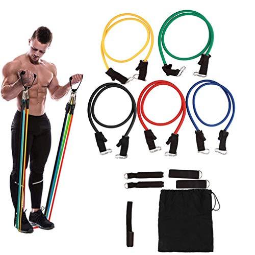 Outech 11Pcs / Portátil Yoga Bandas de Resistencia del Ejercicio del Entrenamiento Training Pull Cintas Elasticas Musculacion para Fitness Ejercicio