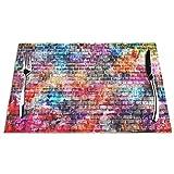 Kjlh Graffiti Set di 6 Tovagliette Colorate Mattoni Resistente al Calore Antimacchia Antiscivolo Tovagliette Per Tavolo Da Cucina Lavabile Durevole Pvc Tovagliette Tessute (6 Pezzi)