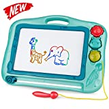 Gamenote Magnetic Drawing Board for Kids 12×16 inch - Doodle...