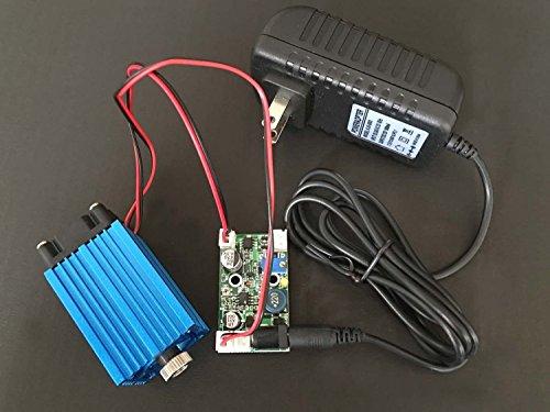 4000mw 445 / 450nm 4W Laser azul ajustable Line Module 12V TTL + Adaptador