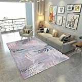 GQBN wohnzimmertisch rund Teppich Wohnzimmer rosa Boden Federdruck Anti-Rutsch und Anti-Fall terrassenteppich Teppich