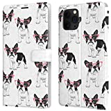 Lex Altern Wallet Case Comatible with iPhone 12 Mini 11 Pro Max Xr Xs X 8 Plus 7 6s SE Holder Flip Boston Terrier Card Folio PU Leather Magnetic Cute French Bulldog Snap Glasses Puppy Cover w0277