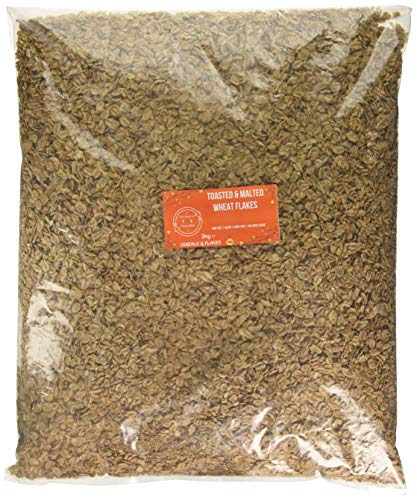 Wholefood Earth Toasted & Malted Wheat Flakes 3kg - GMO Free - Vegan - Dairy Free - No Added Sugar, 1 kg
